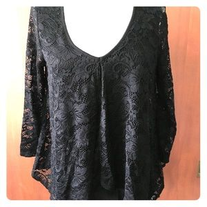 NWT Green Envelope lace top